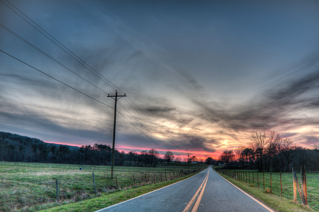 Country Road Sunset