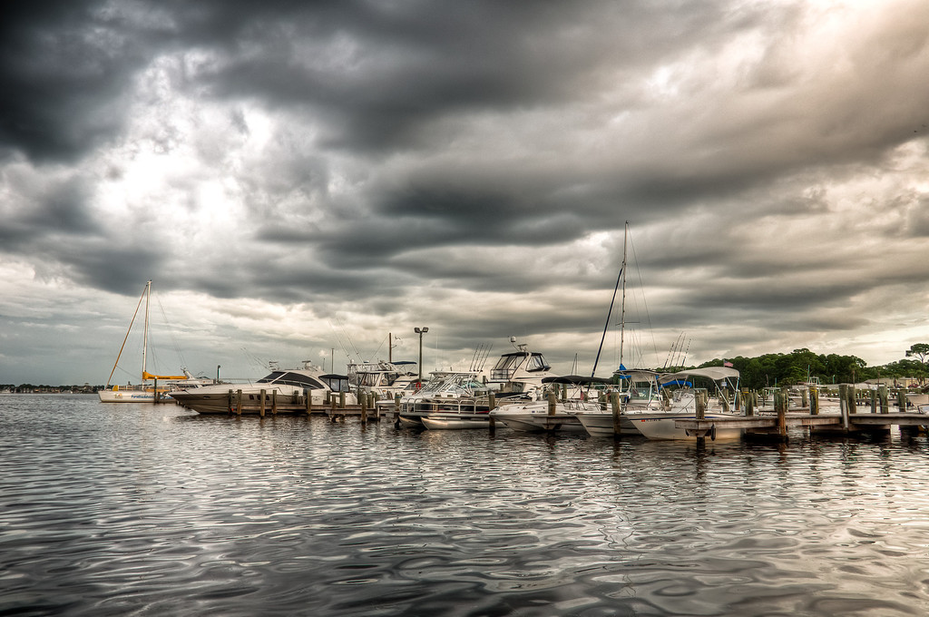 Storm Over the Marina