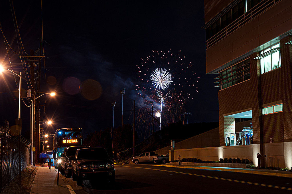 UT Football Fireworks
